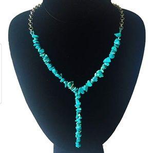 Yurquoise gemstone Y necklace